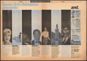 SEVEN ARTS TV__Orig. 1966 Trade AD / poster__Marine Boy_The Beatles_Man In Space
