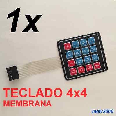 Teclado Interruptor de Membrana 4 x3 12 Teclas Matriz para Arduino Y6R6