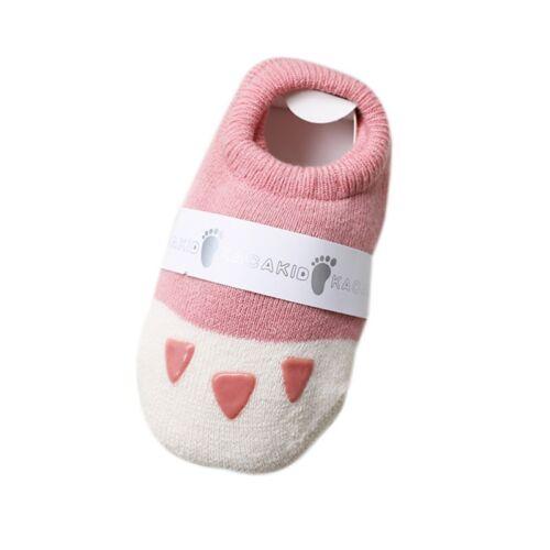 2019 HOT Newborn Baby 6-24M Anti-slip Sock Shoes Boots Slipper Toddler Socks UK
