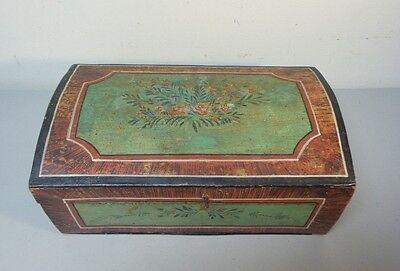 DemüTigen Great 19th Jahrhundert Handgefertigt Hölzernes Braut Kiste, Kuppel Top, Original Elegantes Und Robustes Paket