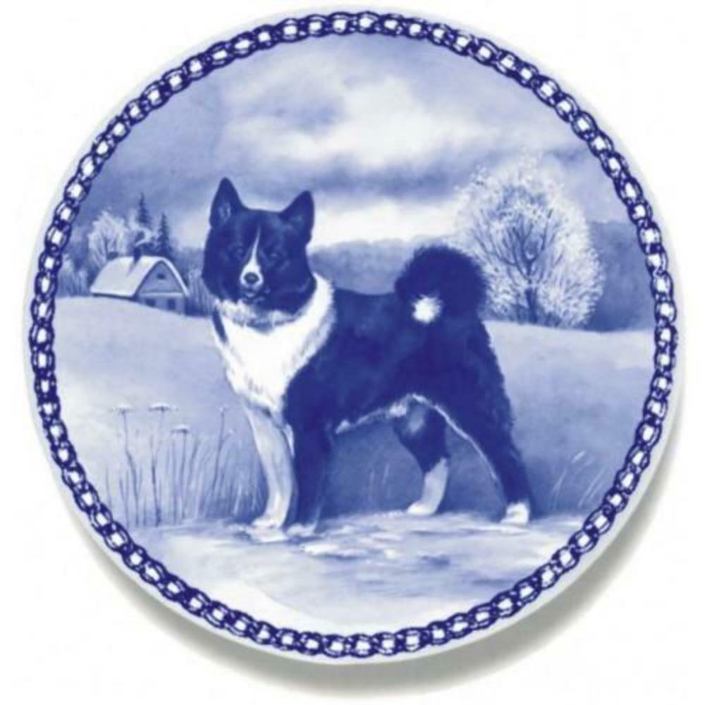 Karelian Bear Dog  Dog Plate made in Denmark from the finest European Porcelain