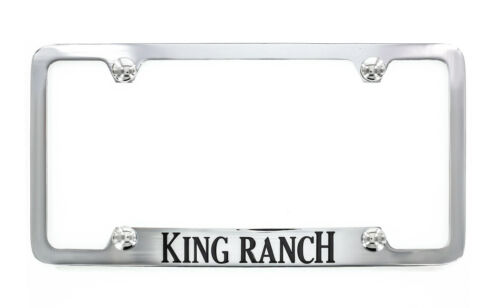 King Ranch wordmark Chrome Plated License Plate Frame Holder 4 Hole