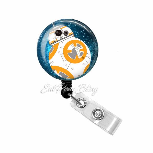 Bb8 Star Wars Inspired Retractable Reel ID Badge Holder Lanyard Clip Rn Nurse
