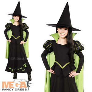 Image is loading Wicked-Witch-of-the-West-Girls-Fancy-Dress-  sc 1 st  eBay & Wicked Witch of the West Girls Fancy Dress Wizard of Oz Book Week ...