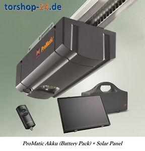 h rmann garagentorantrieb promatic akku mit solarmodul und k schiene ebay. Black Bedroom Furniture Sets. Home Design Ideas