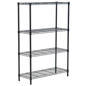 "Commercial 56*36*14"" 4 Tier Shelf AdjustableSteel Wire Metal Shelving Rack"