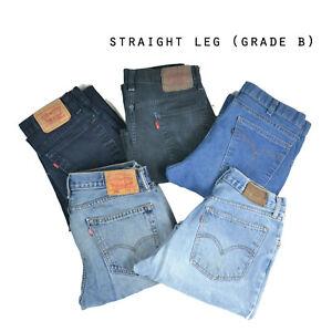 LEVIS-STRAIGHT-LEG-JEANS-DENIM-GRADE-B-W30-W32-W34-W36-W38-W40