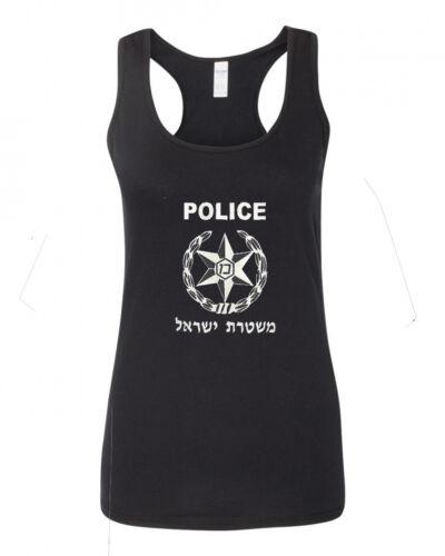 Israeli Police Mishtara Army Military IDF Women/'s Racerback Tank Top