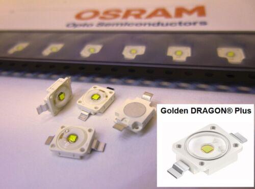 20 Stück/20 pieces LED OSRAM Golden DRAGON Plus LENS 4500K NEUTR. WHITE LCW W5AM