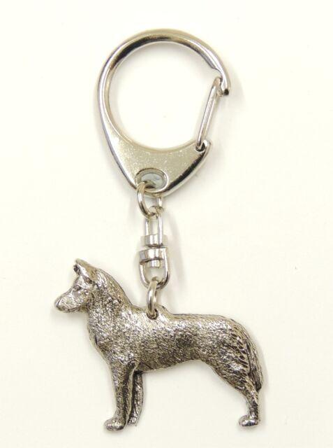 Siberian Husky  Silver Keyring