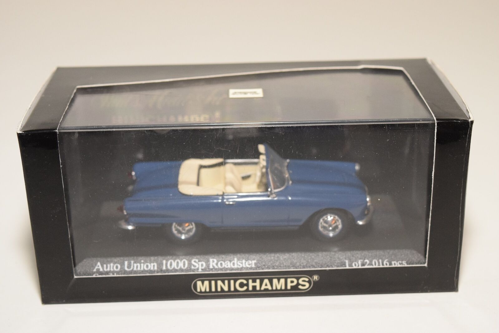 . MINICHAMPS AUTO UNION 1000 SP ROADSTER blueE MINT BOXED