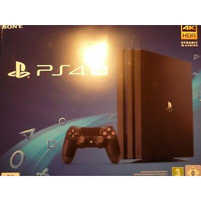 Sony PlayStation 4 Pro PS4 Pro 1TB schwarz Spielekonsole 4K HDR NEU