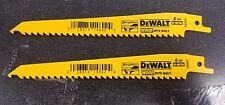 """DEWALT DW4802-2 RECIPROCATING SAW BLADES WOOD 6"""" 6TPI"""