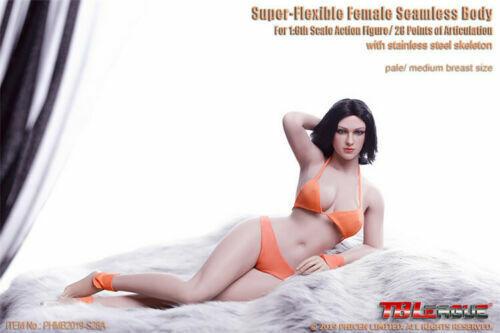 Tbleague 1 6 escala Hembra pálido Medio Busto Sin Costuras flexible cuerpo phmb 2019-S28A Juguete