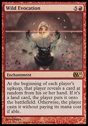 1x Wild Evocation M11 MtG Magic Red Rare 1 x1 Card Cards