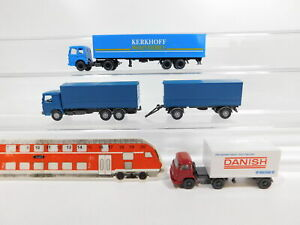 CG400-0-5-3x-Wiking-H0-1-87-LKW-MAN-Kerkhoff-Danish-Bacon-etc-sehr-gut