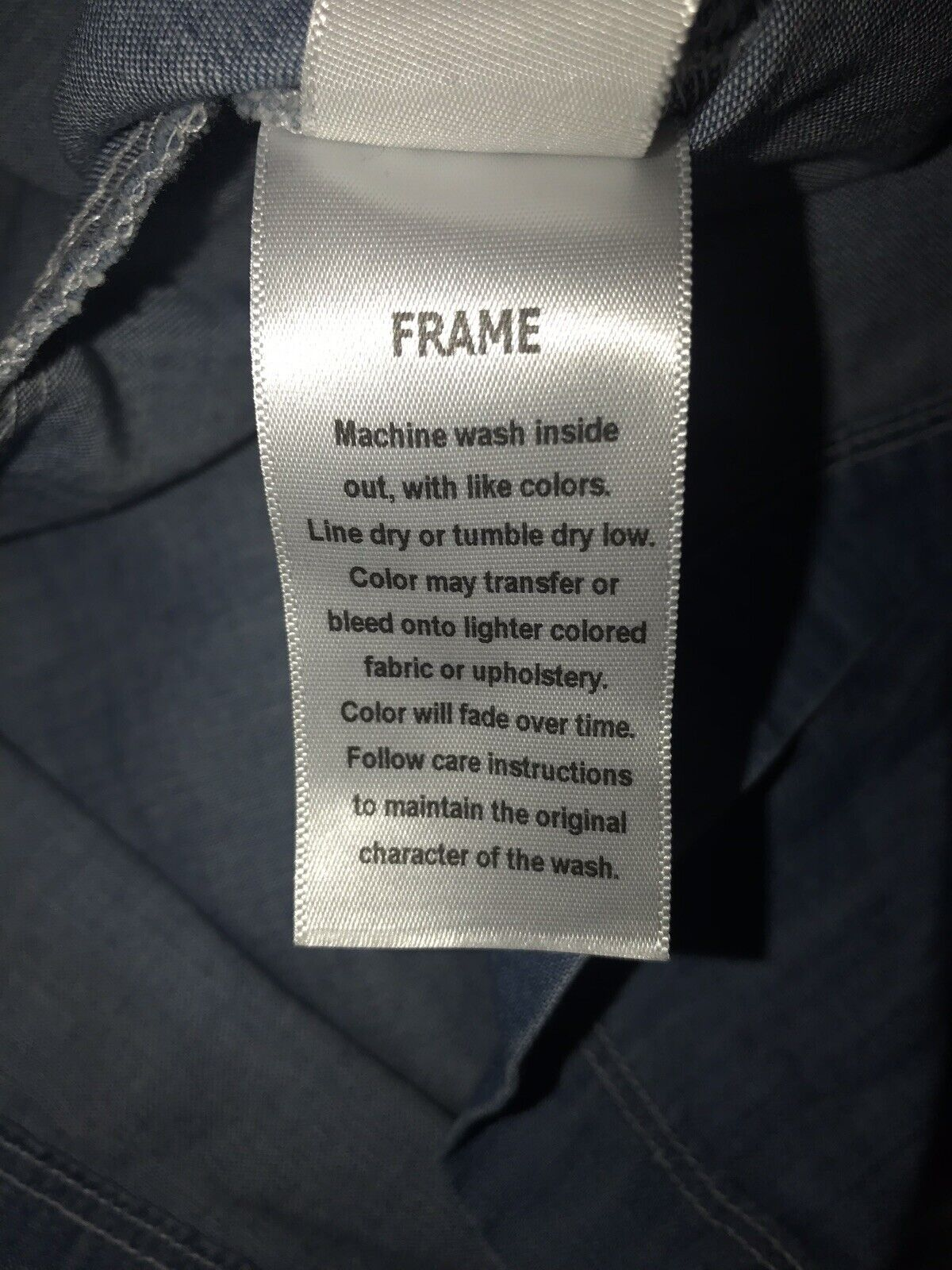 Frame Le apron Reese Soft Denim Overall Skirt Dre… - image 4