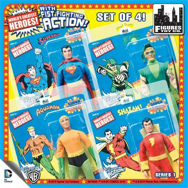 SUPER POWERS SERIES 1; 8 inch figures; SET OF OF OF 4 new Shazam ,superman 6f708e