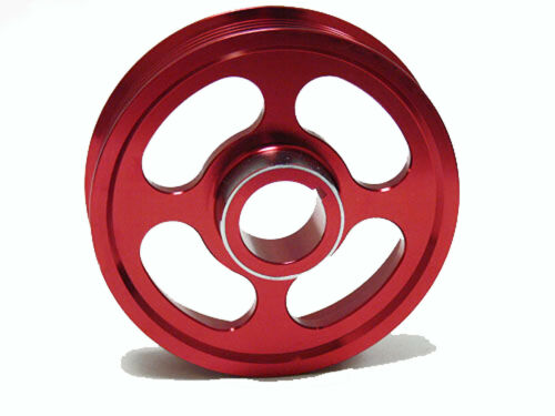 OBX Racing Crank Pulley for 02-06 Acura RSX Type-S TSX K20 K24 Red