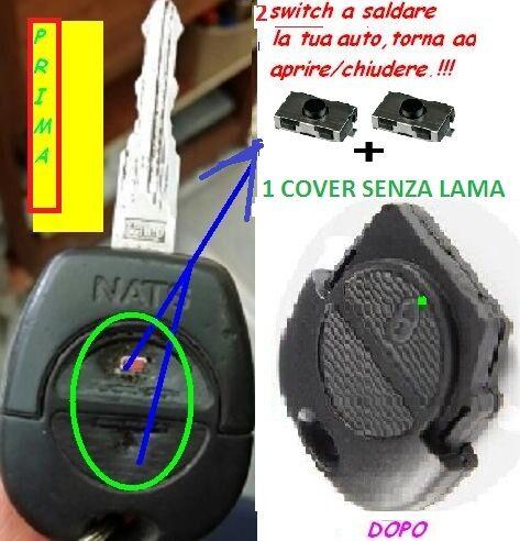 COVER CHIAVE GUSCIO NISSAN TERRANO MICRA X TRAIL ALMERA NAVARA 2MICRO SWITCH
