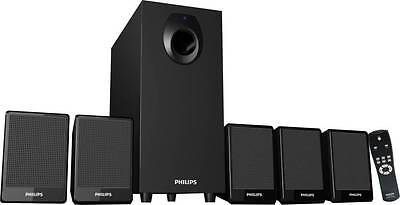 Philips DSP2800/94 Home Audio Speaker  (Black, 5.1 Channel) - 9 Months Warranty