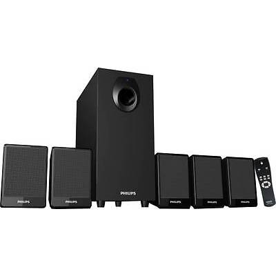 Philips DSP2800/94 Home Audio Speaker  (Black, 5.1 Channel) - 9 Months Warranty