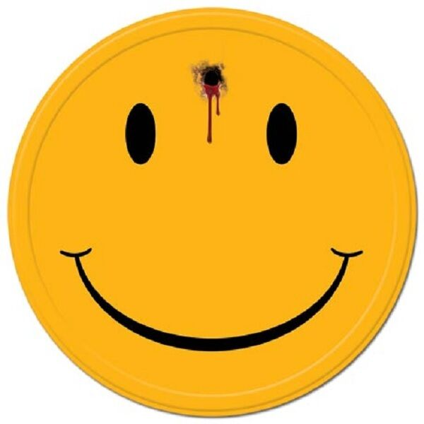Gun Shot Smiley Happy Face Bad TIN SIGN Bullet Hole funny bar garage decor 2137
