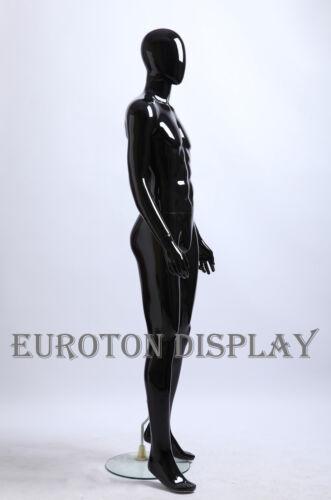 """GW3-H schwarz Glanz männliche Schaufensterpuppe /""""ohne Gesicht /""""mannequin egghead"""