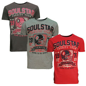 444e31aec37b Image is loading Soulstar-Bouldash-Mens-American-Football-Varsity-Print-T-