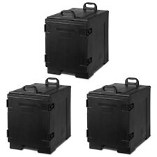 Costway 3pcs End Loading Insulated Food 5 Pan Carrier Hot Cold Capacity Withhandle