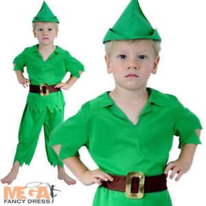 Peter Pan del niño chicos mayores de 2-3 años Vestido Elaborado Disfraz Infantil Día del Libro de la escuela  </span>