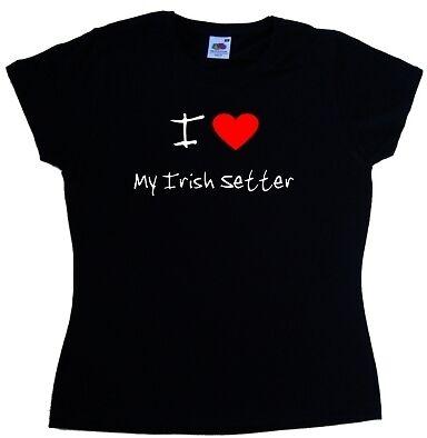 I love coeur mon Irish Setter Mesdames t-shirt