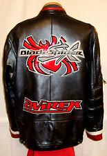 "AVIREX ""BLACK SPIDER""  NEW YORK LEATHER Jacket/Coat**2XL**$699**EXCELLENT!"