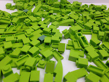 LEGO - 100 LIME GREEN Pieces Bits Cone, Plate, Pins - FREE Brick Seperator