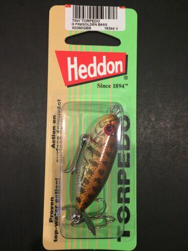 "Heddon Tiny Torpedo 1 7//8/"" 1//4oz G Finish Golden Bass X0360GBB"