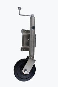 8-Solid-Rubber-Swing-Up-Jockey-Wheel-Caravan-Boat-Trailer-Part-7-5KG