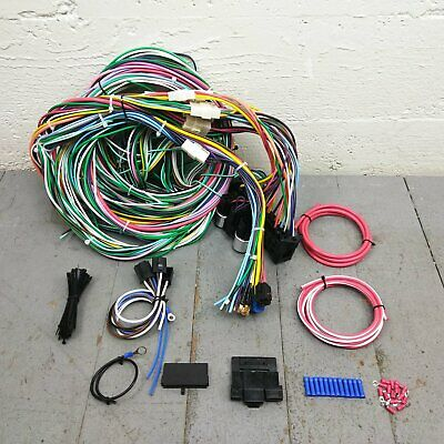 1962-67 aircooled vw beetle squareback fuse box wire harness wiring upgrade  kit | ebay  ebay