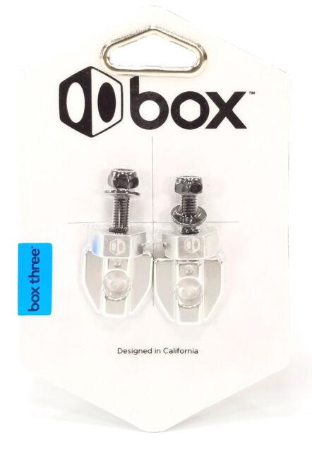 """Box Three 3//8/"""" BMX Chain Tensioners Silver Pair"""