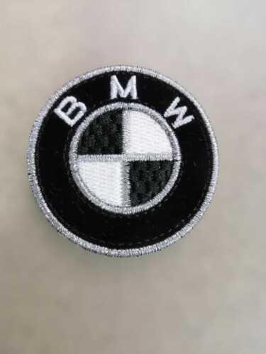 BMW LOGO KIT 2 TOPPE PATCH RICAMATE TERMOADESIVE DIAMETRO 5 CM