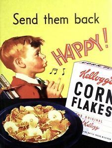 Kitchen man cave Kellogg/'s Corn Flakes Retro metal Aluminium Sign vintage