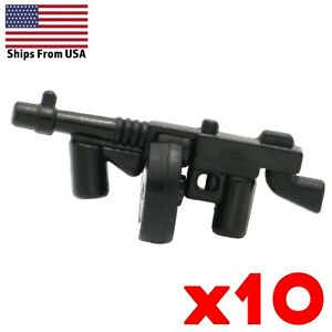 LEGO-Guns-Thompson-Machine-Gun-Lot-of-10-American-WWII-Army-Military-Weapon-Pack
