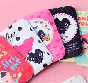 Kawaii Cute Black Cat Kitty Id Credit Business Card Case Holder Book