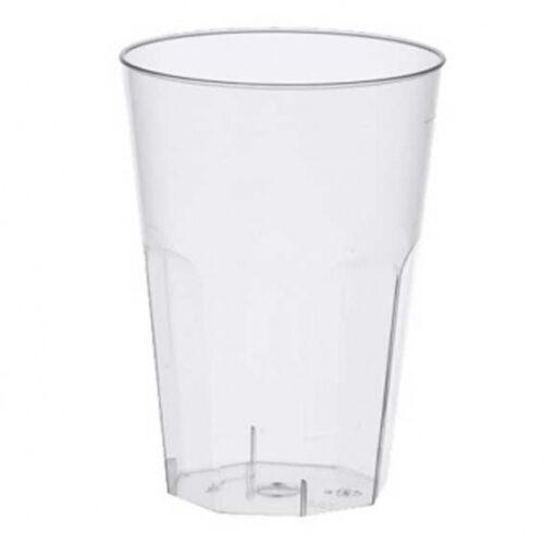 glasklar Einweg Latte Macchiato Becher 30 Plastikbecher 0,3 Liter