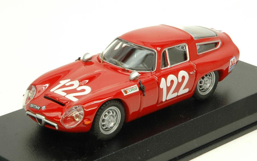 Alfa Romeo Tz1 th Targa Florio 1966 Lo Piccolo   Sutera 1 43 Model