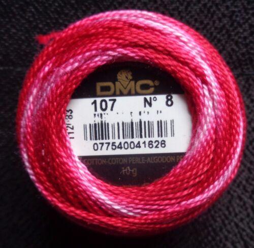 color select below DMC Pearl Cotton-Balls sz 8 95 yds