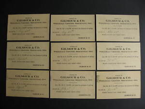 Canada-9-private-advertising-postcards-Gilmour-amp-Co-Brockville-ON-Ontario