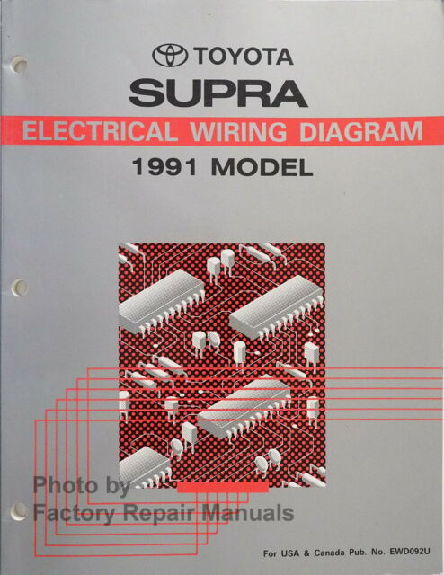 1991 Toyota Supra Electrical Wiring Diagrams Original