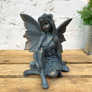 Resin-Sitting-Flower-Magic-Fairy-Outdoor-Garden-Decorative-Ornament-Sculpture-B