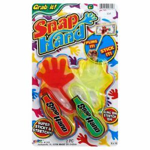 JA-RU Sticky Hands Stretchy Snap Smak Toys (Color May Vary)