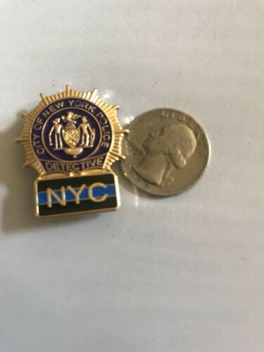 """Police Officer Mini Pin Detective  NYC Thin Blue Line Lapel Hat Pin Cop  /""""1IN"""